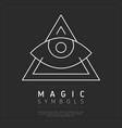 ornamental triangle magic symbol vector image