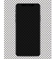 phone with transparent screen on transparent vector image vector image