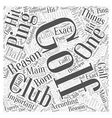 ping golf club Word Cloud Concept vector image vector image