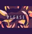 please banner with frame floral vector image vector image