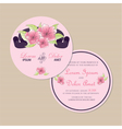 round floral invitation card vector image vector image