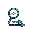 search magnifying glass with arrows send vector image vector image