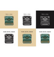 set 6 vintage cards with typewriters vector image vector image