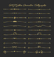 set of golden decorative calligraphic elements vector image vector image