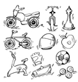 set sport icon vector image