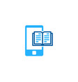 smartphone book logo icon design vector image vector image