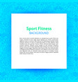 sport fitness paper template vector image vector image