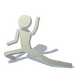 stick man in stretching icon isometric style vector image vector image