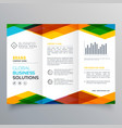 trifold brochure design made with colorful vector image vector image