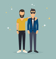 two best friends concept friendship and fun vector image