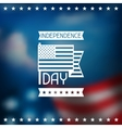 United States of America Independence Day greeting vector image vector image