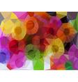 Vivid color polygonal background vector image vector image
