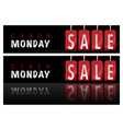 website banners cyber monday vector image vector image
