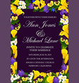 wedding ceremony invitation floral banner design vector image vector image