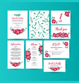 wedding collection spring ornament concept vector image vector image