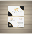 yellow business card vector image vector image