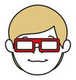 Young man with glasses 3d avatar character