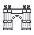 triumphal arch line icon sign vector image