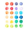 Watercolor paints palette vector image