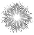 Comic style black and white radial explosion vector image