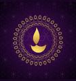 decorative golden diwali diya background vector image
