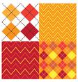 Argyle Orange Set vector image