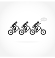 Businessman and bicycle symbol vector image