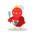 cute cartoon chief bird character in geometric vector image