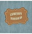 retro western label