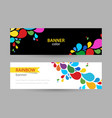 abstract bright banner with drops rainbow vector image vector image
