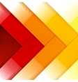 Abstract red orange and yellow shiny rectangle vector image vector image