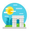 Arc de Triomphe flat design vector image vector image