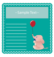 Baby Elephant Card vector image