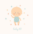 baby shower card for baby boy cute baby boy vector image vector image