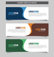 banner template background modern web design vector image