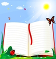 book and nature vector image