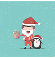 Boy and Penguin cute Christmas character vector image
