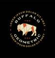 buffalo bison badge t shirt tee merch logo icon vector image