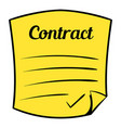 business contract icon cartoon vector image vector image