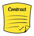 business contract icon cartoon vector image vector image
