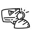 business presentation hand drawn icon design vector image