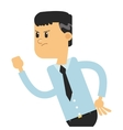 businessman in challlenging pose icon vector image vector image