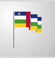 central african republic waving flag creative vector image vector image