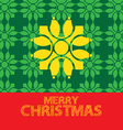 christmas greeting card green yellow red vector image vector image