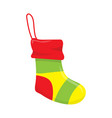 christmas socks isolated vector image vector image