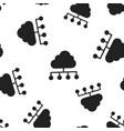 cloud computing technology icon seamless pattern vector image vector image