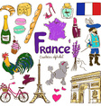 collection france icons vector image vector image