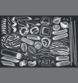 collection of italian pasta vector image vector image