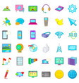 computer play icons set cartoon style vector image vector image