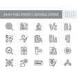 coronavirus test line icons vector image
